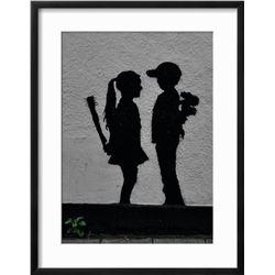 """Banksy """"War Children"""" Custom Framed"""