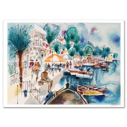 """""""Tiberias"""" Limited Edition Serigraph by Shmuel Katz (1926-2010), Numbered and Hand Signed with Certi"""