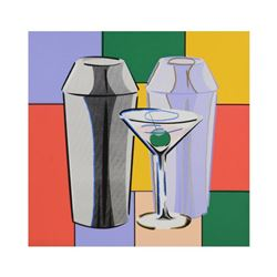 "Steve Kaufman (1960-2010), ""My Martini"" Hand Embellished Limited Edition Silkscreen Silkscreen on Ca"