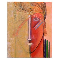 """Gaylord Soli - """"David Bowie"""" Original Mixed Media Acrylic Painting on Gallery Wrapped Canvas, Hand S"""
