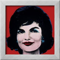 """Andy Warhol """"Jackie, c.1964 (On Red)"""" Custom Framed Offset Lithograph"""