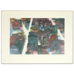 """Rivers of Light"" Limited Edition Etching by Elizabeth Lennard, Numbered and Hand Signed by the Arti"