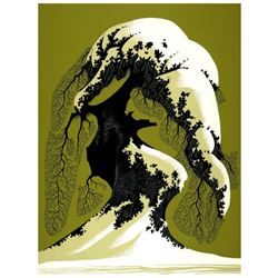"Eyvind Earle (1916-2000), ""Snow Laden"" Limited Edition Serigraph on Paper; Numbered & Hand Signed; w"