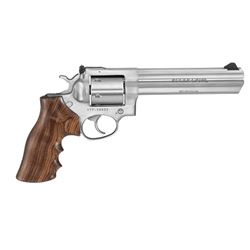 Ruger GP100 .357MAGNUM Revolver, Stainless Steel, Wood Grip