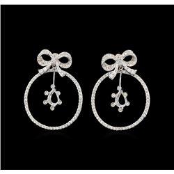 14KT White Gold 1.36 ctw Diamond Earrings