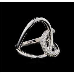 0.32 ctw Diamond Ring - 14KT White Gold
