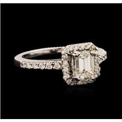 14KT White Gold EGL USA Certified 1.42 ctw Diamond Ring