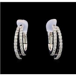 0.57 ctw Diamond Earrings - 14KT White Gold