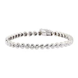 1.50 ctw Diamond Bracelet - 14KT White Gold