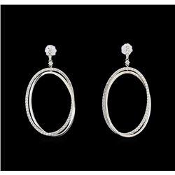 14KT White Gold 1.16 ctw Diamond Earrings