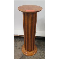 """Round Wooden Pedestal Column Stand 11.5"""" Dia, 30"""" H"""
