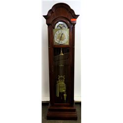 Tall Howard Miller Grandfather Clock w/ Swing Pendulum