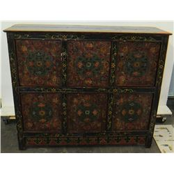 "Antique Elmwood & Fir Tibetan Chest, Circa 1880-1900, 49""x 15"" x 42"" (Includes Certificate)"