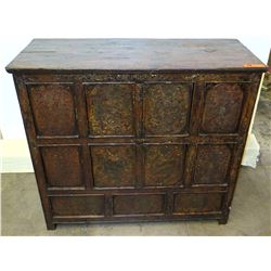 """Qing Dysnasty 19th Century Tibetan Chest, Circa 1880, 42""""x 19"""" x 37"""" (Includes Certificate)"""