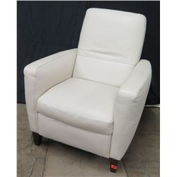 Natuzzi Cream Leather Club Chair Recliner