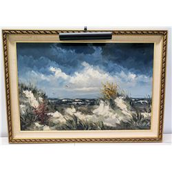 """Framed Original Painting on Canvas - Seascape, Signed by Morton 42"""" x 30"""""""