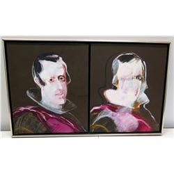 """Original Acrylic Painting on Canvas """"King Philip Meninas Series"""", Signed H. Braun 30"""" x 18"""""""