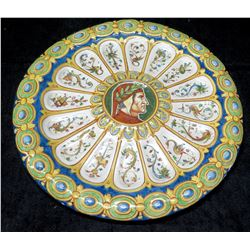 """Painted 13"""" Ceramic Platter, Made in Italy"""