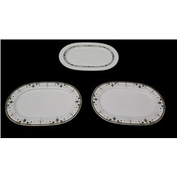 """Qty 3 Serving Platters, 1814 Hutschenreuther Germany 13"""" L"""