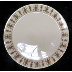 """Round Porcelain Lenox Plate 12"""" Dia, Gold Trimmed, Made in USA"""