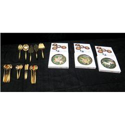 Qty 3 New Im Reicher der Fabein Legend Series Plates & Misc Spoons & Utensils