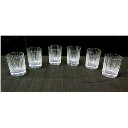 Qty 6 Baccarat France Crystal Highball Beverage Glasses