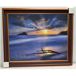"""Wana`ao Sunrise"" by Randy J. Braun, Photographic Image on Canvas, Deluxe Frame"