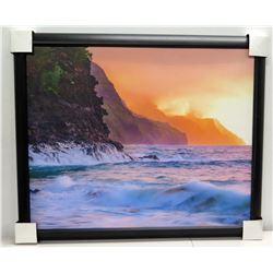 Crashing Waves and Sunrise 47  x 39