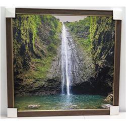 Waterfall, Photograhic Image on Canvas 43  x 40 1/2
