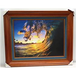 """Pu`uwai"" by Matt Kwock, Photographic Image on Canvas, Deluxe Frame"