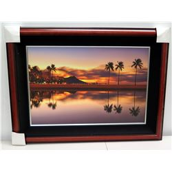"""Leahi Pond"" by Peter Tang, Photographic Image on Canvas, Deluxe Frame"