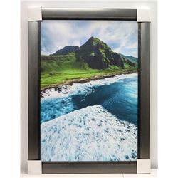 """""""Adventure"""" by Shane Myers, Photographic Image on Canvas 43"""" x 30 5/8"""", Gun Metal-Colored Frame"""
