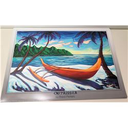 "Qty 4 Unframed Prints: Outrigger by Fred Peters 36"" x 26"""