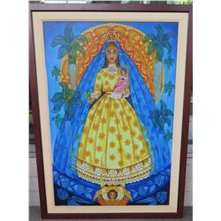 "CARIDAD DEL COBRE by Luis Molina, Giclee on Canvas,  Framed 34"" x 38"" (just added to auction Dec. 1)"