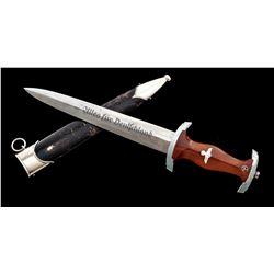 Late Nazi NSKK Dagger RZM