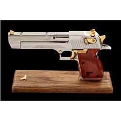 Gold/Nickel Israeli Desert Eagle Pistol