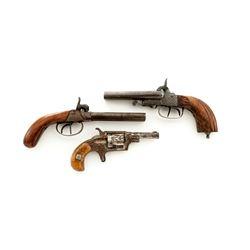 Lot of 3 19th Century Handguns