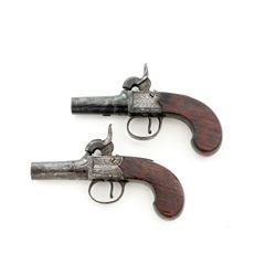 Pair of Irish Boxlock Perc. Pistols, by Neill
