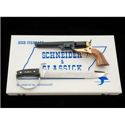 Repro Schneider  Glassick Navy Revolver, w/knife