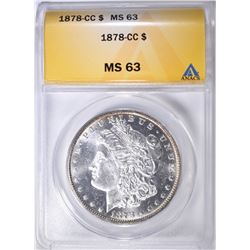1878-CC MORGAN DOLLAR ANACS MS-63