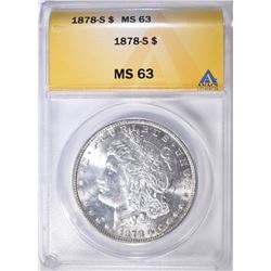 1878-S MORGAN DOLLAR ANACS MS-63