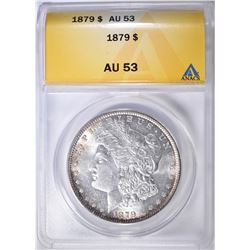 1879 MORGAN DOLLAR ANACS AU-53