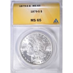 1879-S MORGAN DOLLAR ANACS MS-65