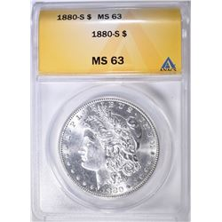 1880-S MORGAN DOLLAR ANACS MS-63