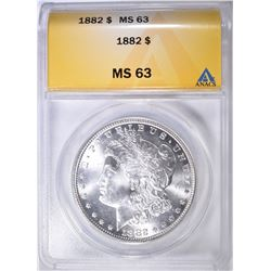 1882 MORGAN DOLLAR ANACS MS-63