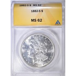 1882-S MORGAN DOLLAR ANACS MS-62