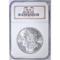 1883 MORGAN DOLLAR NGC MS-64