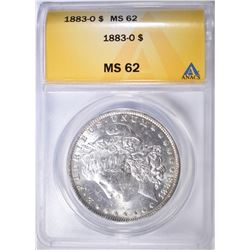 1883-O MORGAN DOLLAR ANACS MS-62