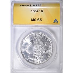 1884-O MORGAN DOLLAR ANACS MS-65