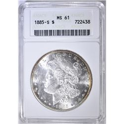 1885-S MORGAN DOLLAR ANACS MS-61